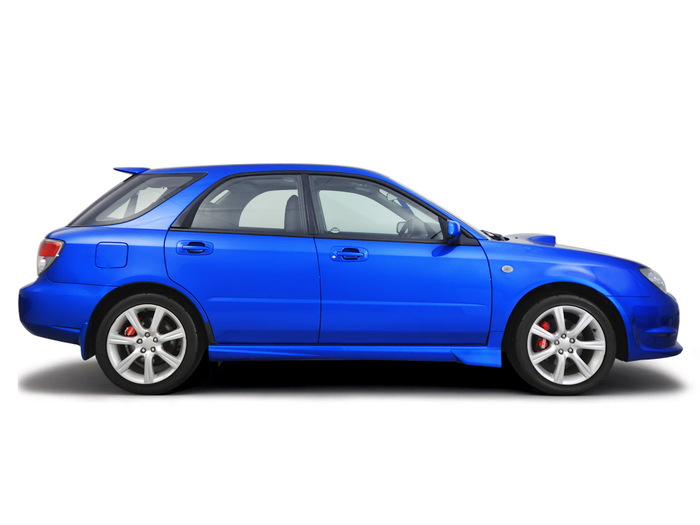 Checking tyre condition Subaru Impreza 2002 - 2011 Petrol 2.5