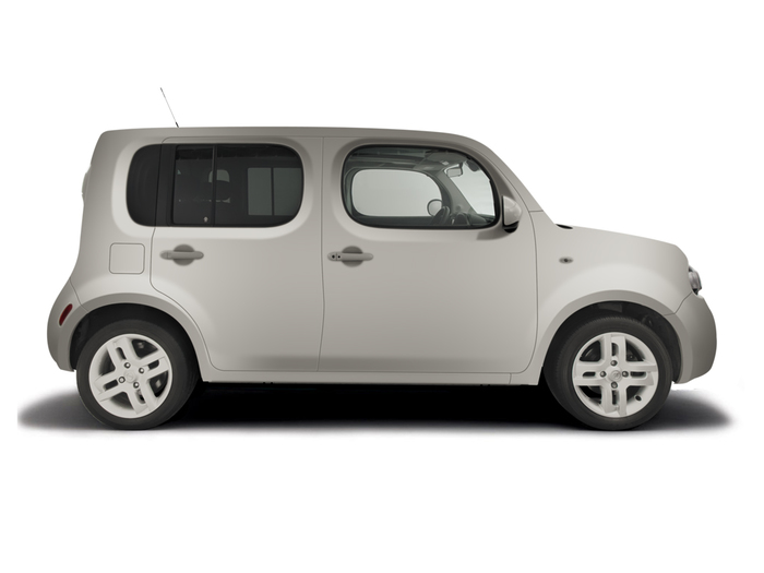 Checking tyre condition Nissan Cube 2009 - 2011 Petrol 1.6