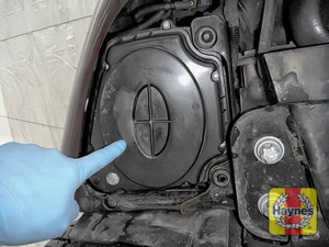 Illustration of step: Air filter location, it is accessed from underneath the car - it - step 1
