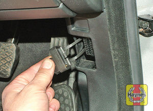 Illustration of step: Unclip the cover from the drivers side pillar trim to access the 16-pin diagnostic socket - step 2
