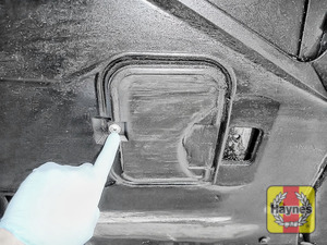 Illustration of step: You will need to open the sump access cover - step 2