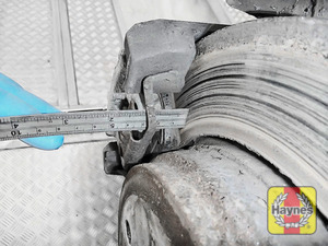 Illustration of step: Measure brake pad wear thickness - step 12