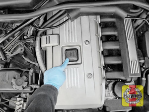 Illustration of step: If you need to top up, locate the oil filler cap - step 1