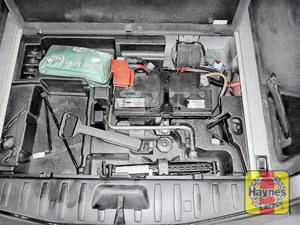 Illustration of step: Locate the battery - it's under the boot floor - step 1