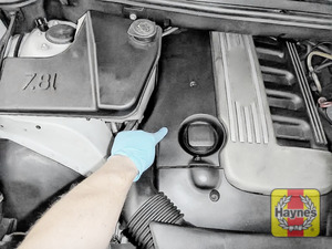 Illustration of step: The air filter is beneath here - step 1