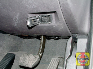 Illustration of step: Open the cover in the driver's side lower fascia panel to access the diagnostic socket - step 2