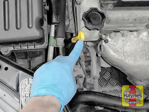 Illustration of step: Always replace cap and dipstick securely - step 7