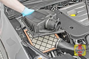 Illustration of step: Carefully lift away the top section of the air filter body - step 5