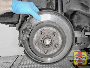 Illustration of step: Check the condition of the rear brake discs - step 8