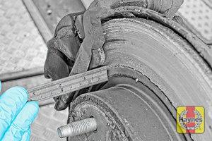 Illustration of step: Measure brake pad wear thickness - step 10