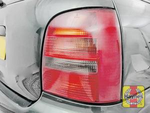 Illustration of step: Check rear light cluster, brake, fog and indicators - step 3