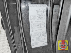 Illustration of step: Look for a sticker showing your tyre pressures located in the driver door aperture - step 3