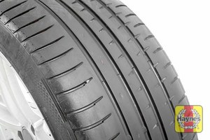 Illustration of step: Before refitting the tyres, take a look at the tyre tread, there is a UK legal requirement to have a minimum of 1 - step 16