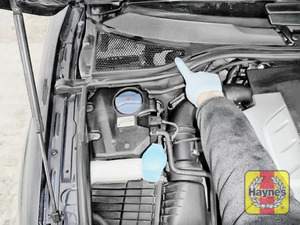 Illustration of step: Locate the brake fluid reservoir - step 1