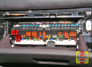 Illustration of step: Slide the fusebox rearwards to access the fuses - step 2
