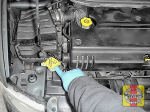 Illustration of step: Locate the screen wash filler cap - step 2