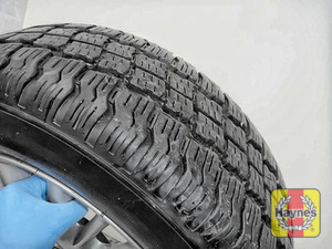 Illustration of step: Before refitting the tyres, take a look at the tyre tread, there is a UK legal requirement to have a minimum of 1 - step 14