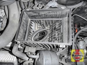 Illustration of step: Check air filter box for debris - step 10