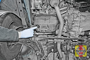 Illustration of step: Here's the sump plug - step 1
