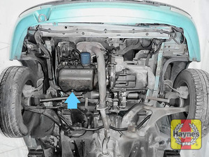 Illustration of step: The sump plug is located on the base of the engine - step 1