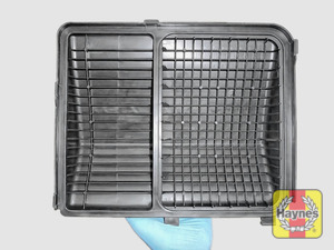 Illustration of step: View of air filter cover - step 1