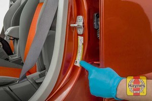 Illustration of step: Look for a sticker showing your vehicle's tyre pressures located in the door aperture - step 3