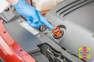 Illustration of step: Always replace the dipstick and oil filler cap - step 11