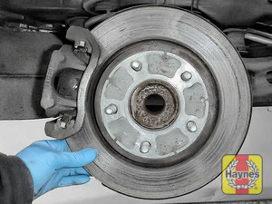 Illustration of step: Check condition of the rear brake discs - step 8