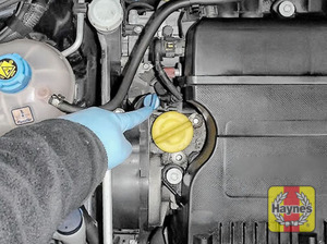 Illustration of step: Don't forget to replace the dipstick and oil filler cap securely - step 10