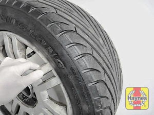 Illustration of step: Before refitting the tyres, take a look at the tyre tread, there is a UK legal requirement to have a minimum of 1 - step 15