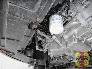 Illustration of step: The oil filter is located here, you will need to remove the sump cover if fitted - step 2