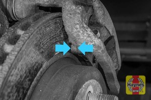 Illustration of step: Locate rear brake pads - step 10