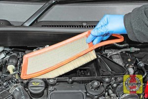 Illustration of step: Lift out the air filter for inspection - step 6