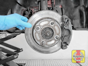 Illustration of step: Check condition of the brake discs - step 4