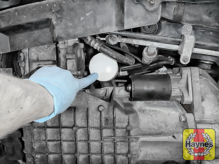 Illustration Of Step The Oil Filter Is Located In Here Step