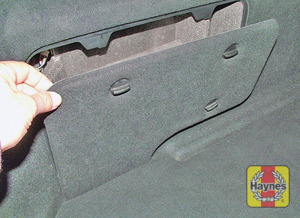 Illustration of step: Undo the fasteners and remove the luggage compartment left-hand side panel  - step 4