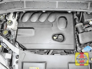 Illustration of step: The oil filter is located under engine cover - step 1