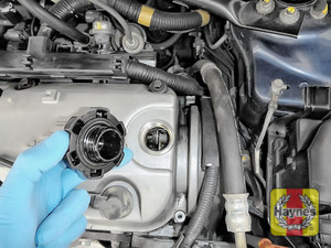 Illustration of step: If you need to top up, locate the oil filler cap - step 3