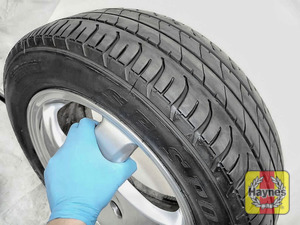 Illustration of step: Before refitting the tyres, take a look at the tyre tread as there is a UK legal requirement to have a minimum of 1 - step 15