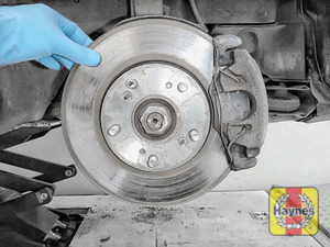 Illustration of step: Check condition of the brake discs - step 3