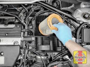 Illustration of step:  Lift out the air filter - step 8