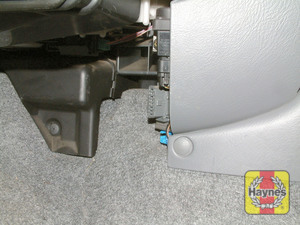 Illustration of step: The diagnostic socket is located in the passengers footwell - step 2