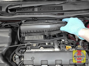 Illustration of step: Carefully lift away the air filter box - step 4