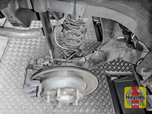 Illustration of step: Take a good look around brake system and the suspension arm, and check for any leaks - step 13