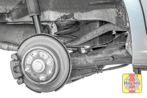 Illustration of step: Take a good look around brake system and the suspension arm, and check for any leaks - step 12