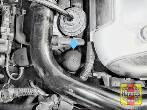 Illustration of step: The location of oil filter is here - step 1