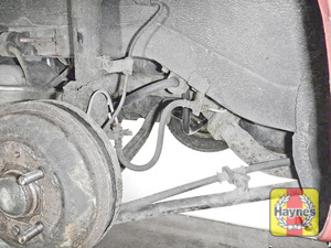 Illustration of step: Take a good look around the brake system and the suspension arm, and check for any leaks - step 11