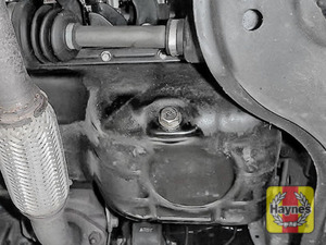Illustration of step: Replace (new) sump plug and washer - step 5