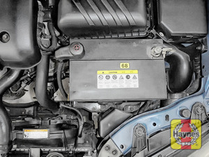 Illustration of step: Check the battery is generally secure, and if loose, tighten the battery retainer - step 6