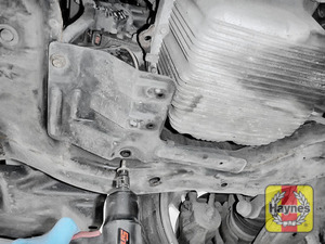 Illustration of step: You may need to remove this protective cover to gain access to the oil filter - step 11